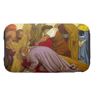 Stations of the Cross 9 Jesus Falls the Third Time iPhone 3 Tough Cover