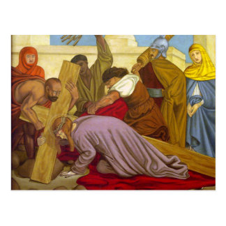 Stations of the Cross 9 Jesus Falls the Third Time Postcard