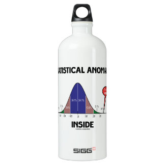 Statistical Anomaly Inside (Bell Curve I Am Here) Aluminum Water Bottle