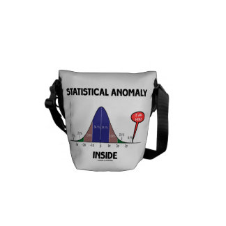 Statistical Anomaly Inside (Bell Curve I Am Here) Courier Bag