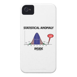Statistical Anomaly Inside (Bell Curve I Am Here) iPhone 4 Case-Mate Cases