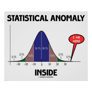 Statistical Anomaly Inside (Bell Curve I Am Here) Print