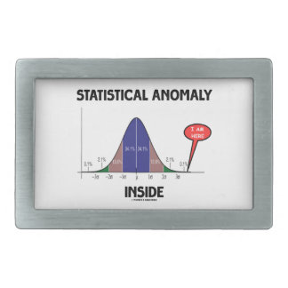 Statistical Anomaly Inside (Bell Curve I Am Here) Rectangular Belt Buckle