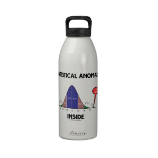 Statistical Anomaly Inside (Bell Curve I Am Here) Reusable Water Bottle