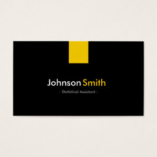 Statistical Assistant - Modern Amber Yellow Business Card