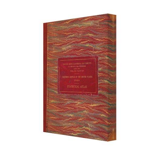 Statistical atlas United States Canvas Print