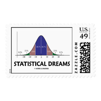 Statistical Dreams (Bell Curve Attitude) Stamp