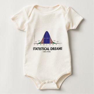Statistical Dreams (Bell Curve Humor) Baby Bodysuit