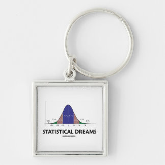 Statistical Dreams Bell Curve Humor Key Chain