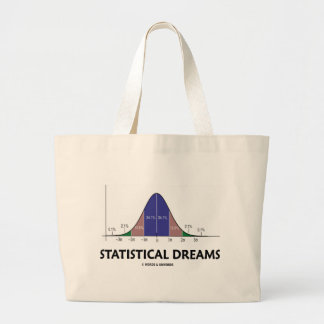 Statistical Dreams (Bell Curve Humor) Large Tote Bag