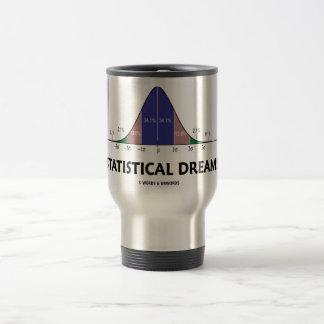 Statistical Dreams (Bell Curve Humor) Travel Mug