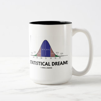 Statistical Dreams (Bell Curve Humor) Two-Tone Coffee Mug