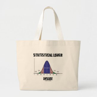 Statistical Lover Inside (Bell Curve) Bags