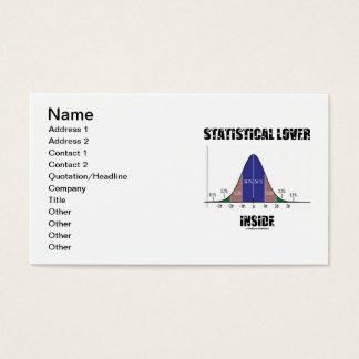 Statistical Lover Inside (Bell Curve) Business Card