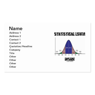 Statistical Lover Inside (Bell Curve) Business Card Templates