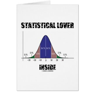Statistical Lover Inside (Bell Curve) Greeting Cards