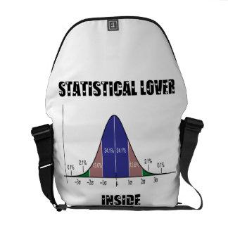 Statistical Lover Inside (Bell Curve) Courier Bag