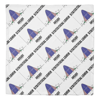 Statistical Lover Inside Bell Curve Geek Duvet Cover