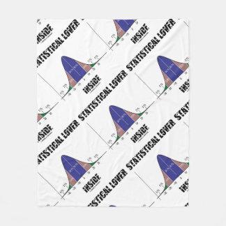 Statistical Lover Inside Bell Curve Geek Fleece Blanket