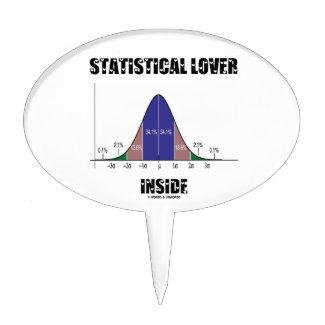 Statistical Lover Inside (Bell Curve Humor) Cake Picks