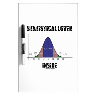 Statistical Lover Inside (Bell Curve Humor) Dry Erase Whiteboard