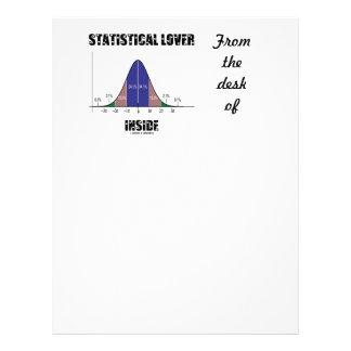 Statistical Lover Inside (Bell Curve Humor) Letterhead
