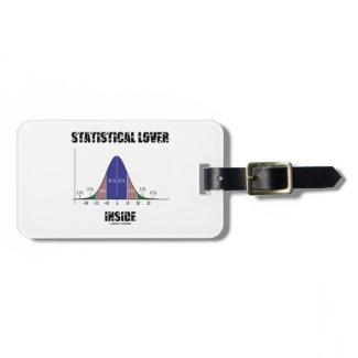 Statistical Lover Inside (Bell Curve Humor) Travel Bag Tags
