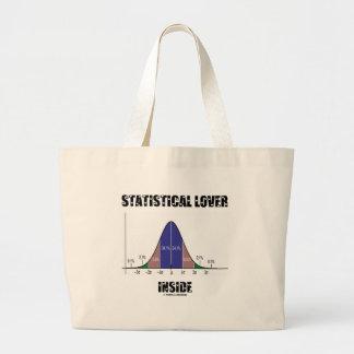 Statistical Lover Inside (Bell Curve) Large Tote Bag