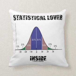 Statistical Lover Inside (Bell Curve) Pillows