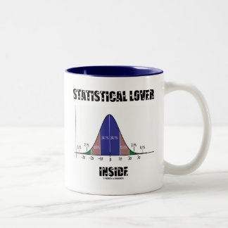 Statistical Lover Inside (Bell Curve) Two-Tone Coffee Mug