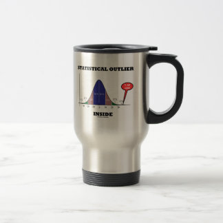 Statistical Outlier Inside (Bell Curve Humor) 15 Oz Stainless Steel Travel Mug