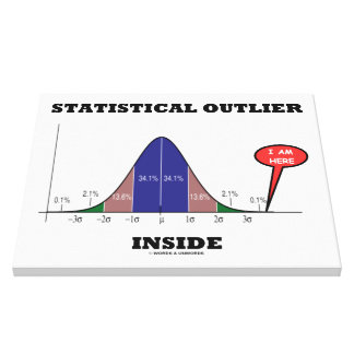 Statistical Outlier Inside (Bell Curve Humor) Canvas Print
