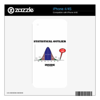 Statistical Outlier Inside (Bell Curve Humor) Decal For The iPhone 4S