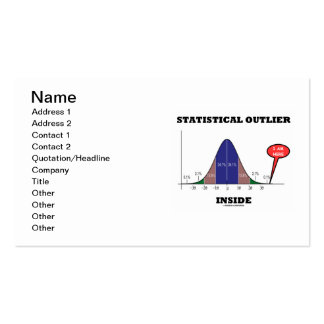 Statistical Outlier Inside (Bell Curve Humor) Double-Sided Standard Business Cards (Pack Of 100)