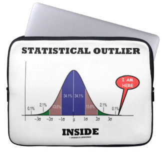 Statistical Outlier Inside (Bell Curve Humor) Laptop Sleeve