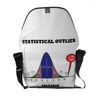 Statistical Outlier Inside (Bell Curve Humor) Messenger Bag