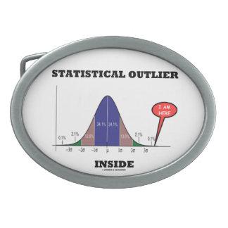 Statistical Outlier Inside (Bell Curve Humor) Oval Belt Buckle