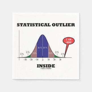 Statistical Outlier Inside (Bell Curve Humor) Paper Napkin