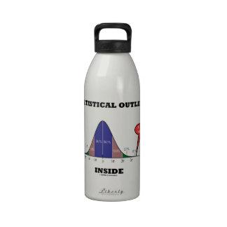 Statistical Outlier Inside (Bell Curve Humor) Drinking Bottle