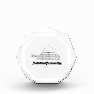 Statistical Personality Bell Curve Humor Acrylic Award