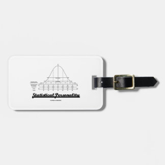 Statistical Personality Bell Curve Humor Bag Tag