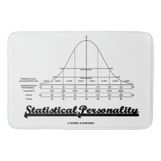 Statistical Personality Bell Curve Humor Bath Mat