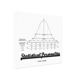 Statistical Personality Bell Curve Humor Canvas Print