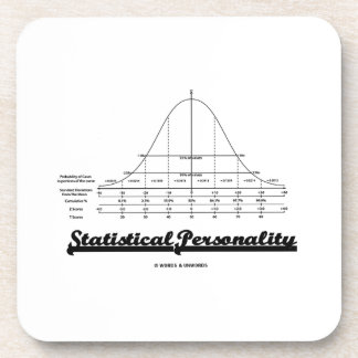 Statistical Personality Bell Curve Humor Coaster