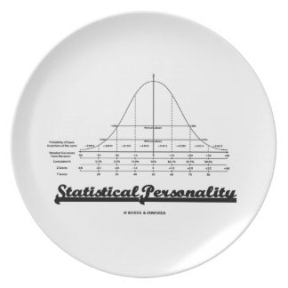 Statistical Personality Bell Curve Humor Dinner Plate
