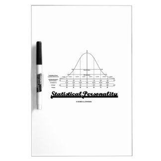 Statistical Personality Bell Curve Humor Dry-Erase Board