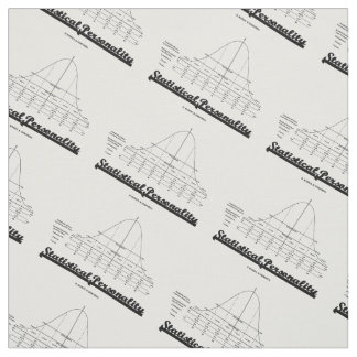 Statistical Personality Bell Curve Humor Fabric