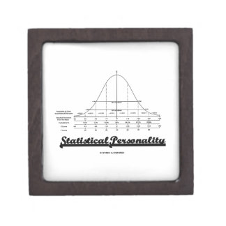 Statistical Personality Bell Curve Humor Jewelry Box