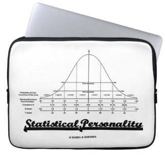Statistical Personality Bell Curve Humor Laptop Computer Sleeves