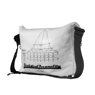 Statistical Personality Bell Curve Humor Messenger Bag